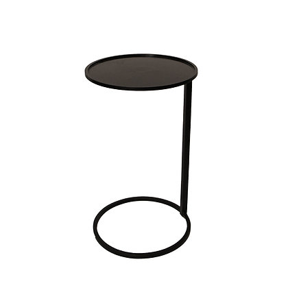 Black Circle Couch Side Table