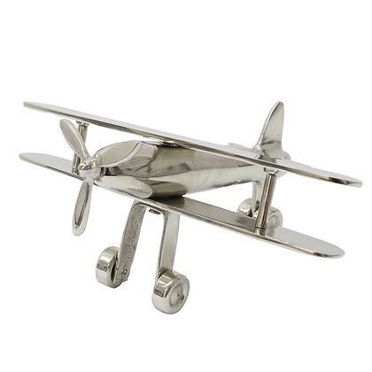 Silver Bi-Plane