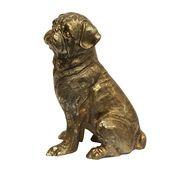 Bronze Bruno Sitting Pug