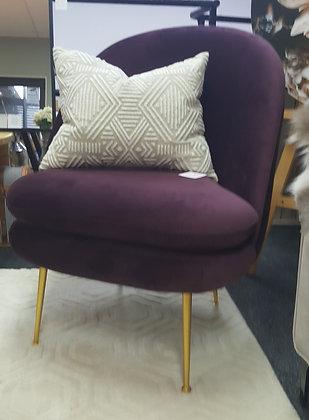 Plum Tulip Chair