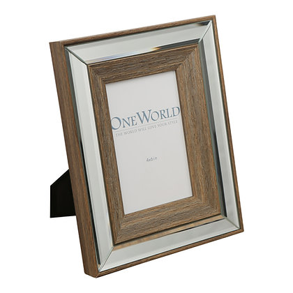 Timber Mirrored Frame