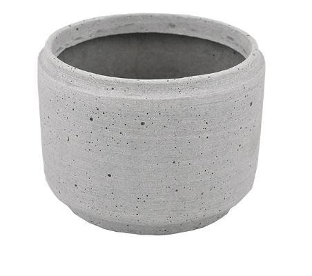 Wide Concrete Look Pot