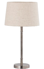 Straight Silver Table Lamp