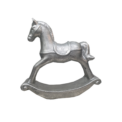 Silver Rocking Horse