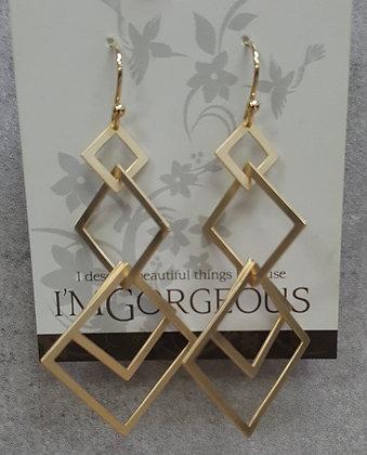 Luna Multi Triangle Earrings