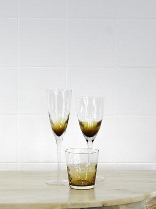 Amber Wine Glass
