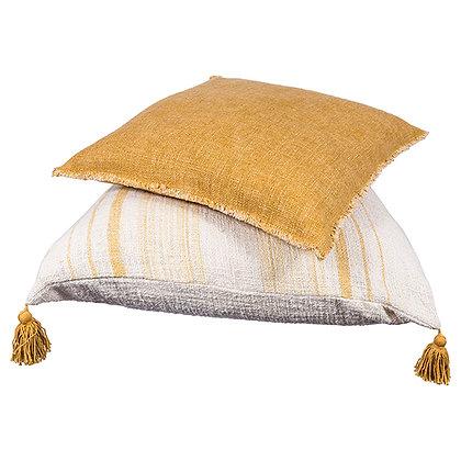 Tassel Butter Stripe Cushion
