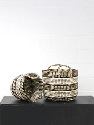 Sea Grass Striped Baskets