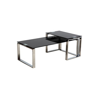 Black Glass Nested Coffee Tables