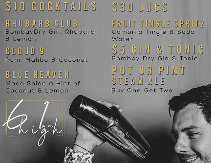 Enjoy your Winter Sundays with the crew at 61 on High. All day drink promotions in a well heated bar