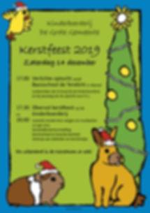 Kerstviering poster - Kinderboerderij Wa