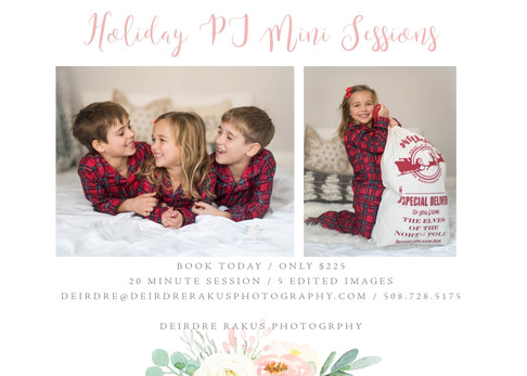Holiday PJ Mini Sessions!!! | {Grafton, MA Child Photographer}