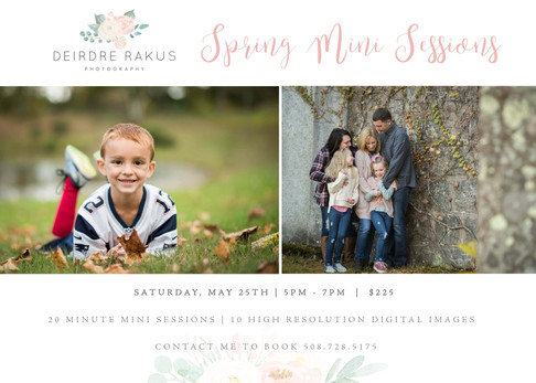 Spring Mini Sessions Announced!