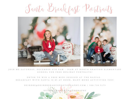 NGES Santa Breakfast Portraits Ready!   {Grafton, MA Fundraiser Portraits}