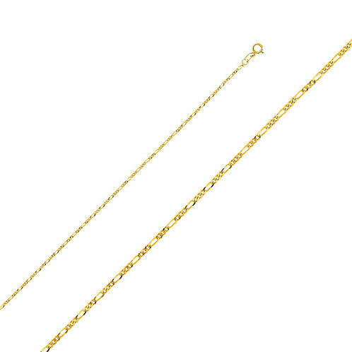 14k Yellow Gold 1.6-mm Figaro Chain Necklace