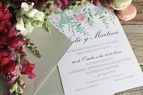 Invitaciones de boda bonitas, invitaciones de boda romanticas