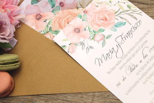 Invitaciones de boda bonitas, invitaciones de boda sobre forrado