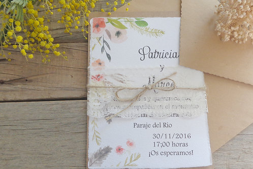 Invitaciones de boda bonitas, invitaciones de boda papel de algodón