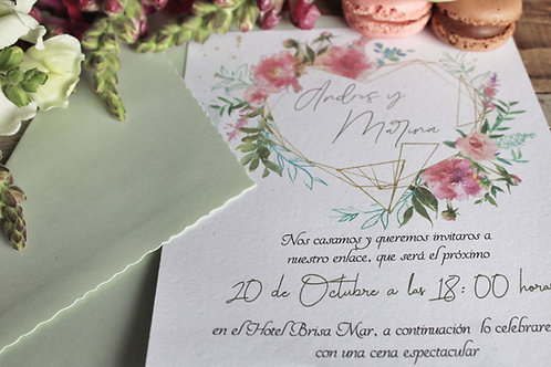 invitacion de boda, invitacion de boda romantica