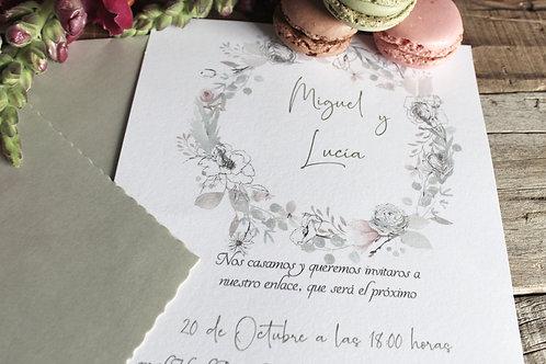 Invitaciones de boda bonitas, invitaciones de boda con sobre forrado