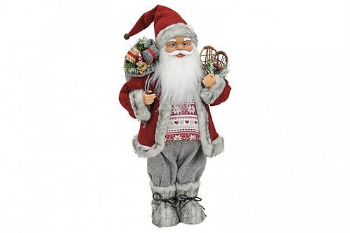 Papa Noel de pie rojo