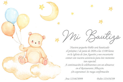 Invitación Baby Bear