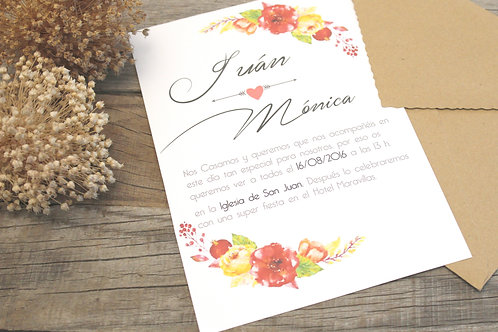 Invitaciones de boda bonitas, invitaciones romanticas