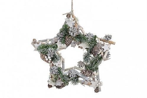 Estrella Navidad Colgante Madera