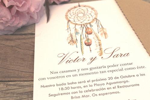 Invitaciones de boda bonitas, invitaciones de boda boho