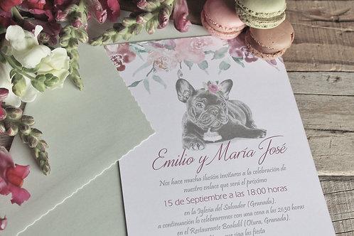 invitacion de boda, invitacion de boda con mascota