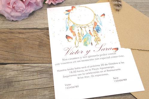 invitaciones de boda, invitaciones de boda boho