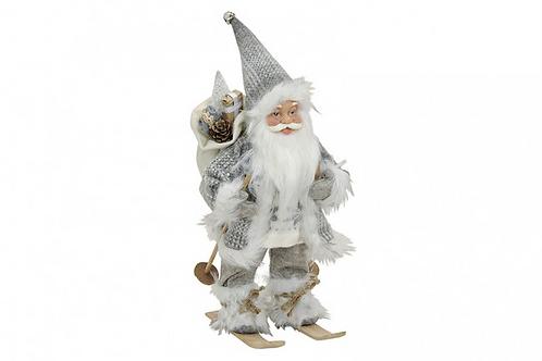 Papa Noel Nórdico sobre Esquies