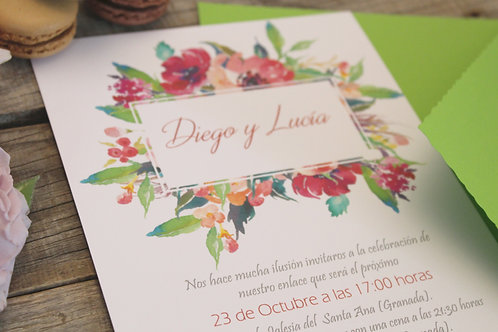 Invitaciones de boda bonitas, invitaciones de boda tropical