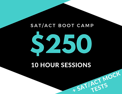 10hr  SAT/ACT BOOT CAMP Package