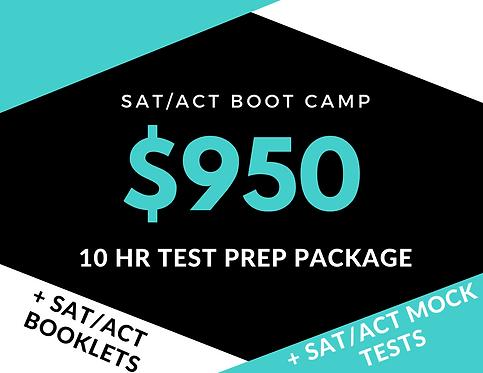 10hr  SAT/ACT Test Prep Package