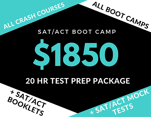 20hr SAT/ACT Test Prep Package