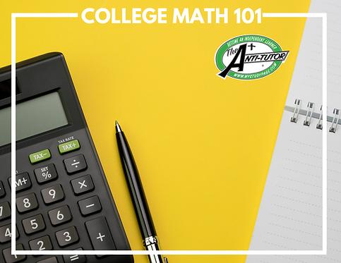 Bridge to College: College Math 101