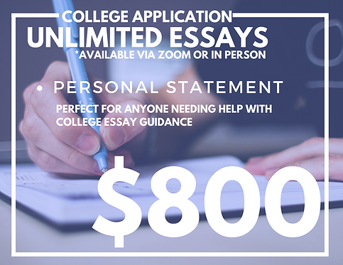 College Application Package (UNLIMITED ESSAYS)