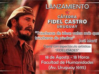 Inauguración de la cátedra Fidel Castro en Uruguay
