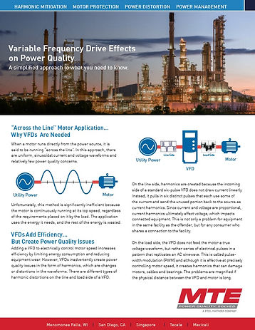 Variable Frequency Drives Effects on Pow