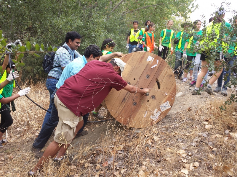 Together, keeping our creek clean