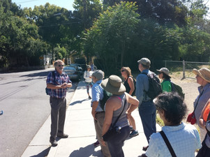 Larry Ames and Walking Tour