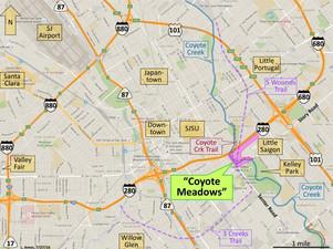 Coyote Meadows regional map