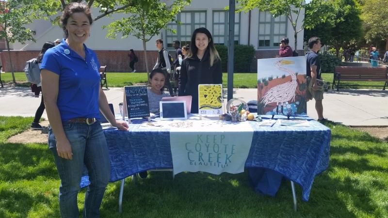Tabling at SJSU Earth Day 2017