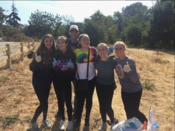 Girls at Coastal Cleanup Day 2017