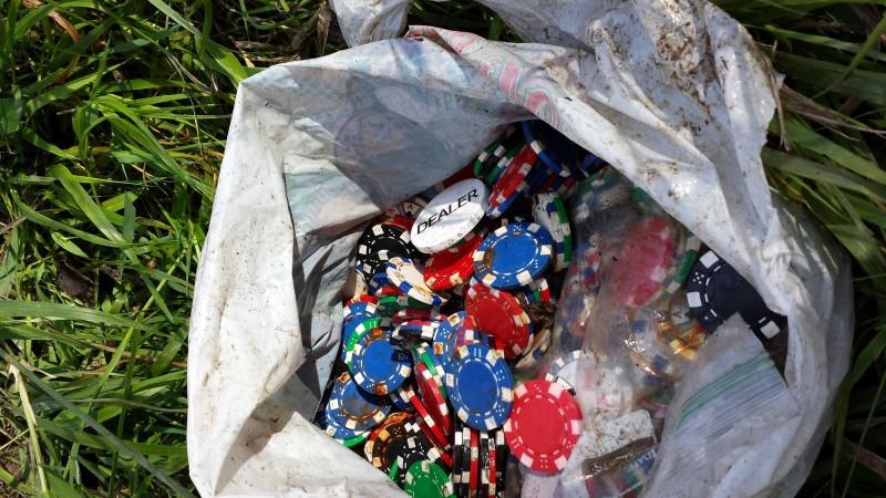Poker Chips left behind