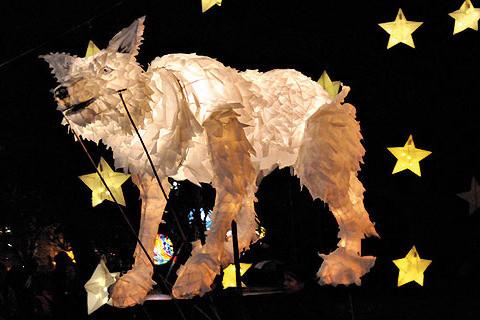Wolf Lantern Puppet