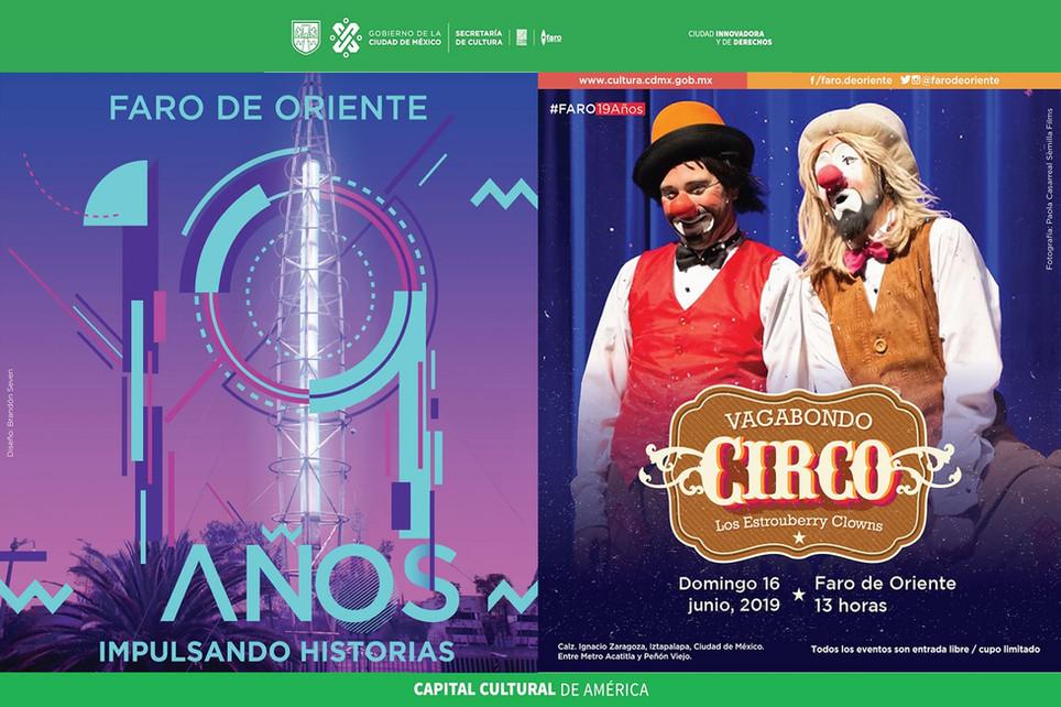 Vagabondo Circo / 19º Aniversario del Faro de Oriente
