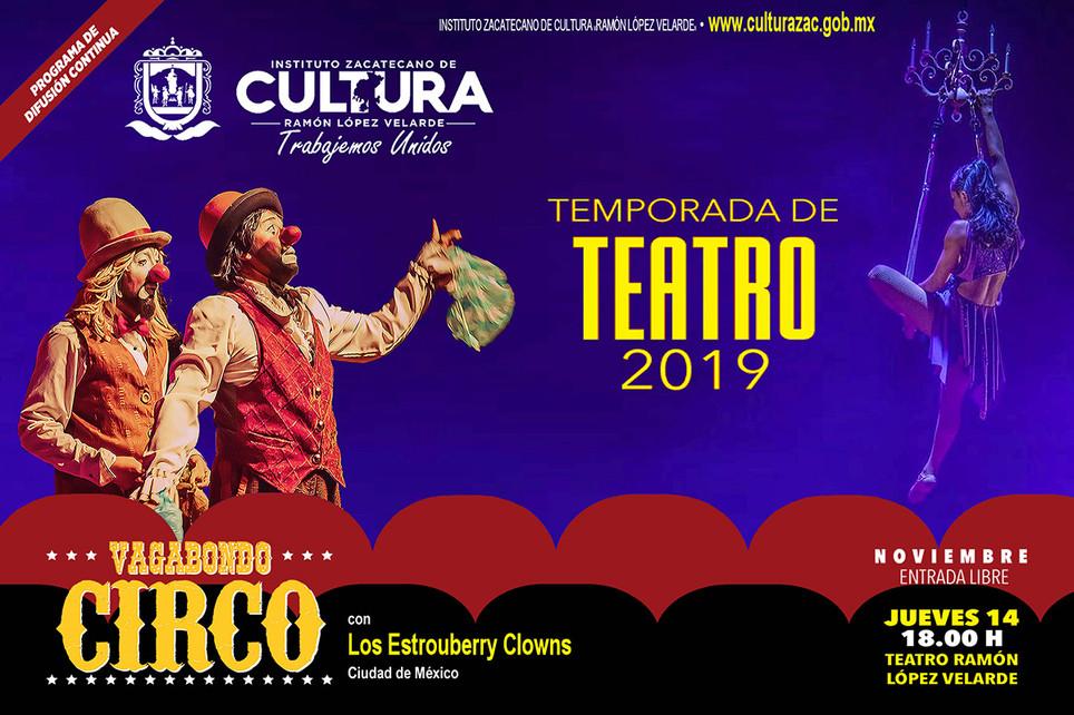 Vagabondo Circo / Temporada de Teatro 2019
