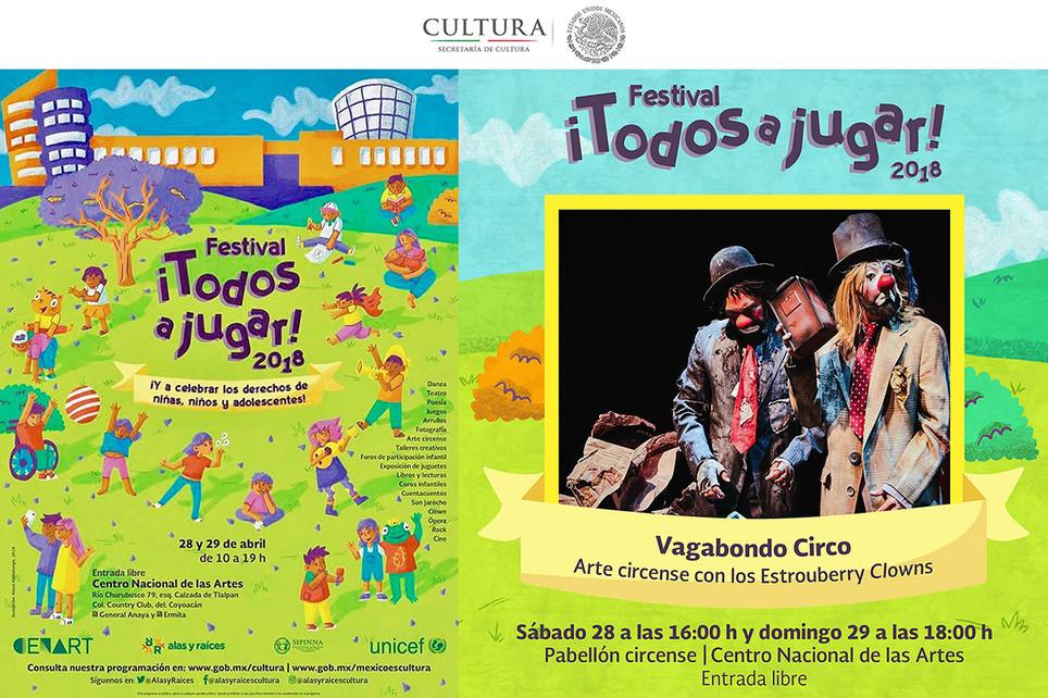 Vagabondo Circo / Festival ¡Todos a Jugar 2018! de Alas y Raíces